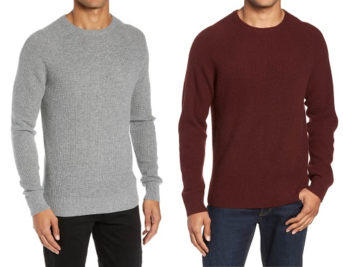 Nordstrom Cashmere Waffle Knit Crew