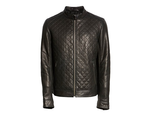 Lamarque Diamond Quilted Leather Jacket