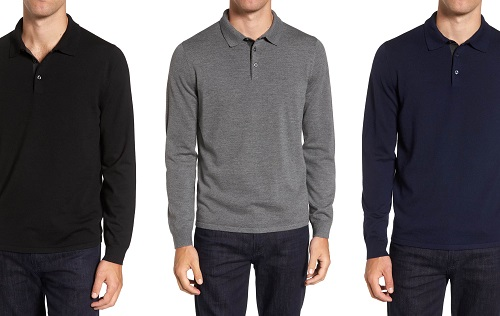 NordstromMerino Wool Polo Sweater