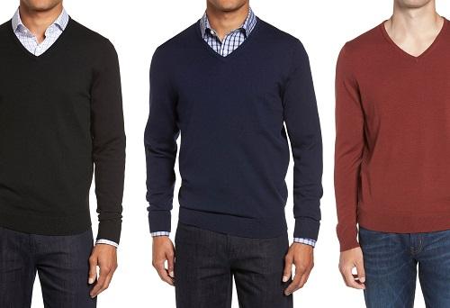 Nordstrom V-Neck Merino Sweaters
