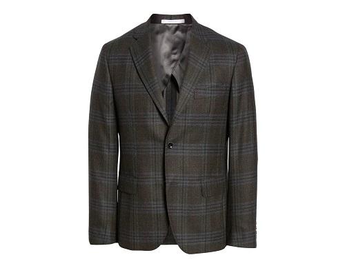 Norstrom Signature Trim Fit Plaid Wool Sport Coat