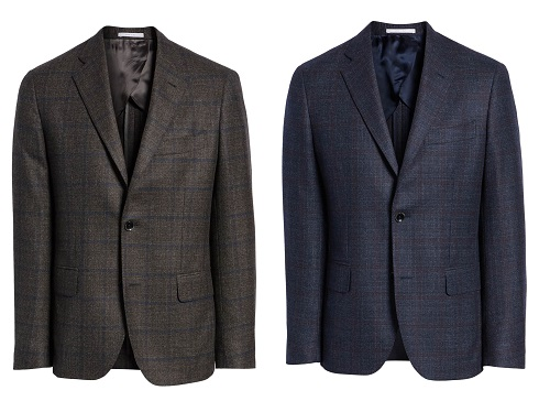 Nordstrom Signature Trim Fit Windowpane Wool Sport Coat