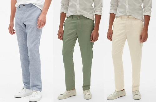 GAP Cotton/Linen Khakis