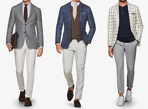 0767fc83b10 Suitsupply Havana Fit Linen Blend Sportcoats