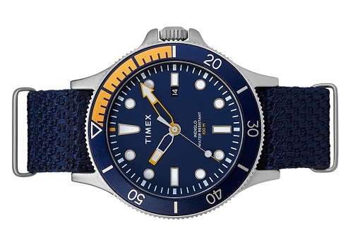 Timex Allied Coastline 43mm Fabric Strap Watch