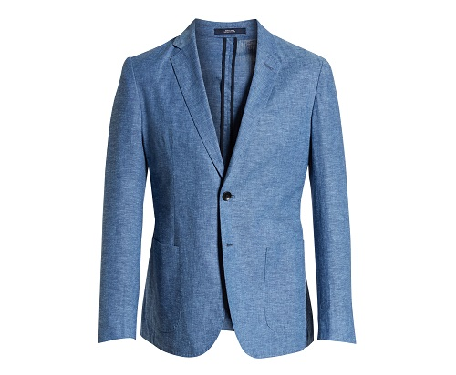1901 Extra Trim Fit Chambray Sport Coat