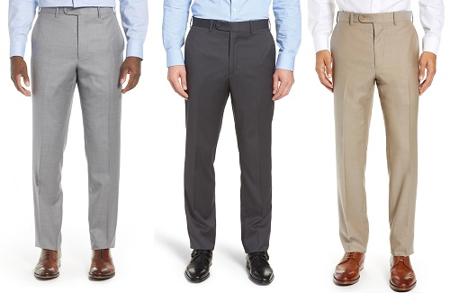 John W. Nordstrom Italian Wool Flat Front Trousers