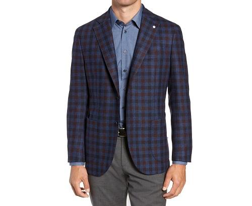 L.B.M 1911 Classic Fit Check Wool Sport Coat