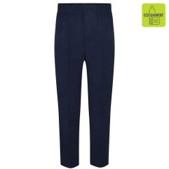 Navy Full Elastic Pull-Up Trousers