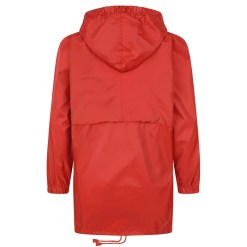 Cagoule in a bag in Red rear