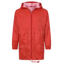 Cagoule in a bag in front red