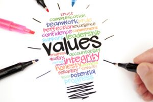 Values are what defines a people