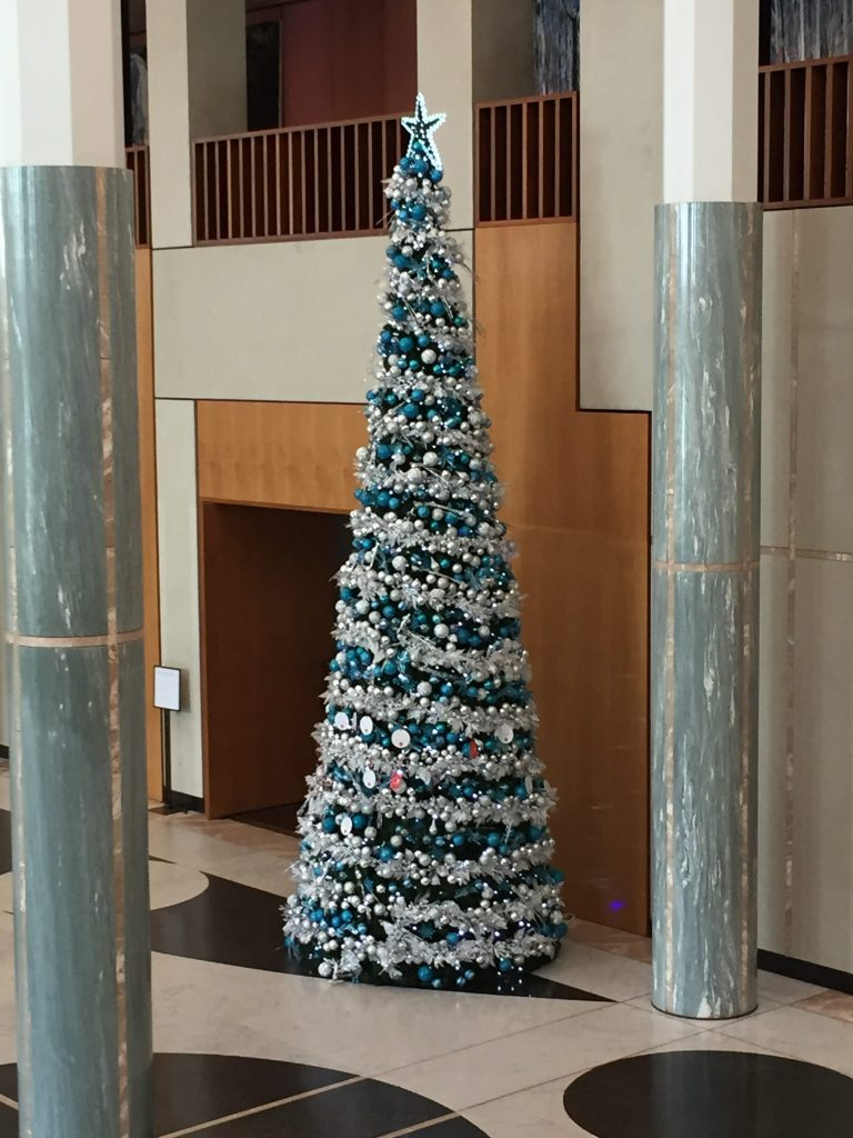 Christmas tree in the new Parliament House