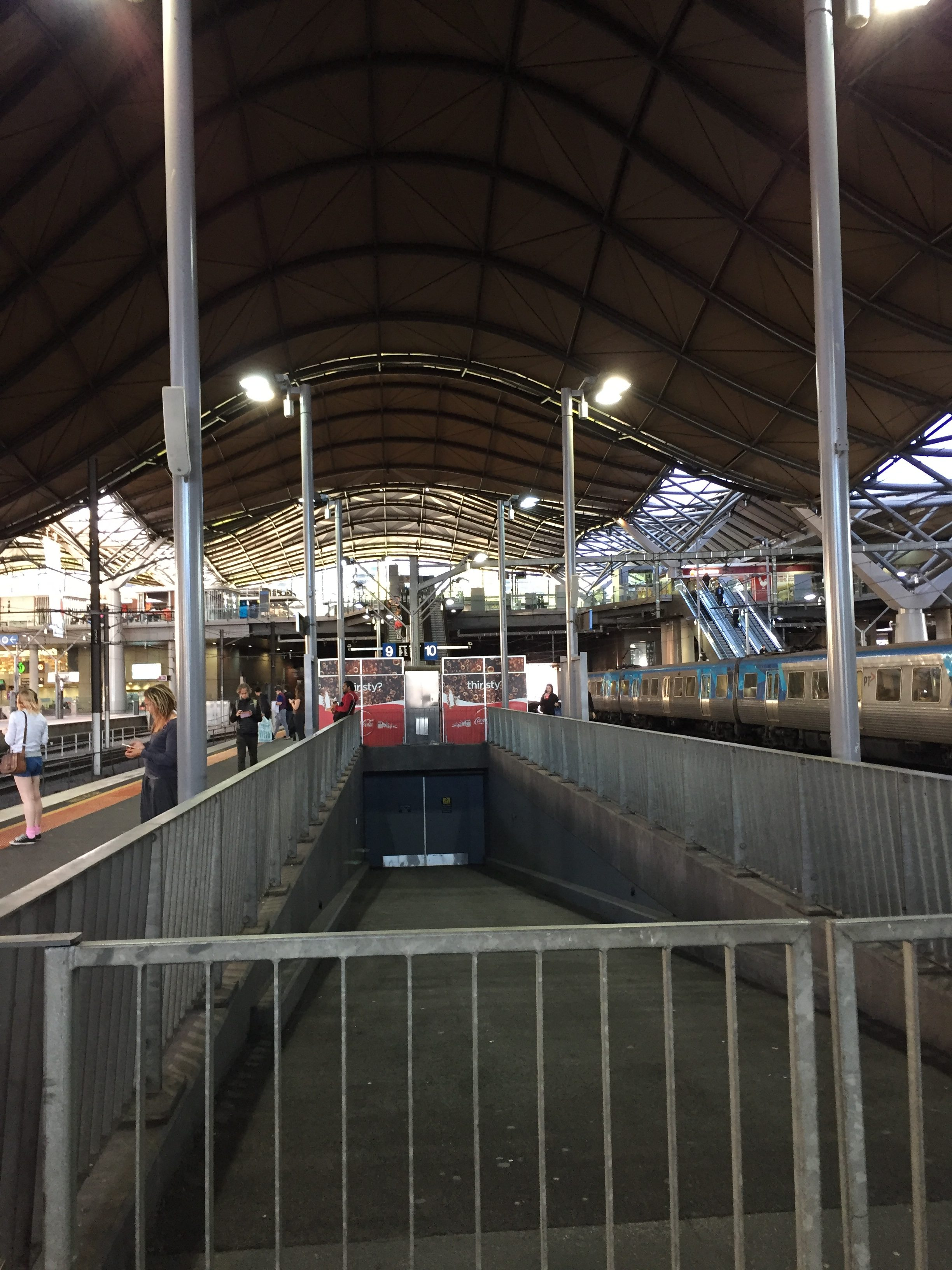 Platform at Southern Cross train station in Melbourne