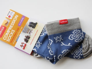 VIM & VIGR Compression Socks in package and folded