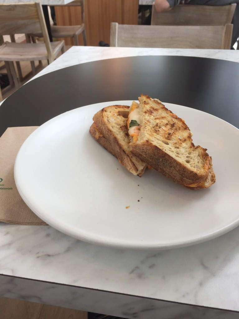 West Village Grilled Cheese Sandwich with Basil