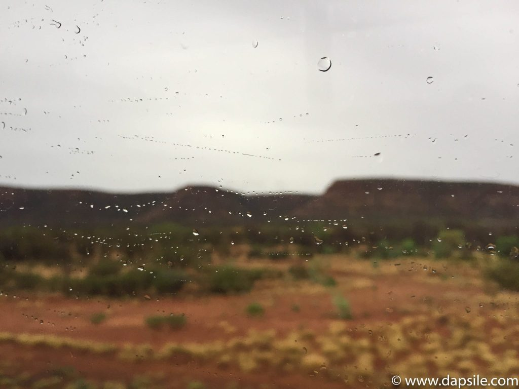 Rain in the Outback in the Alice Springs area