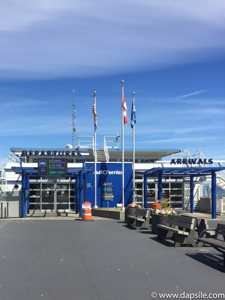 Swartz Bay Ferry Terminal when travelling from Vancouver to Victoria by Ferry