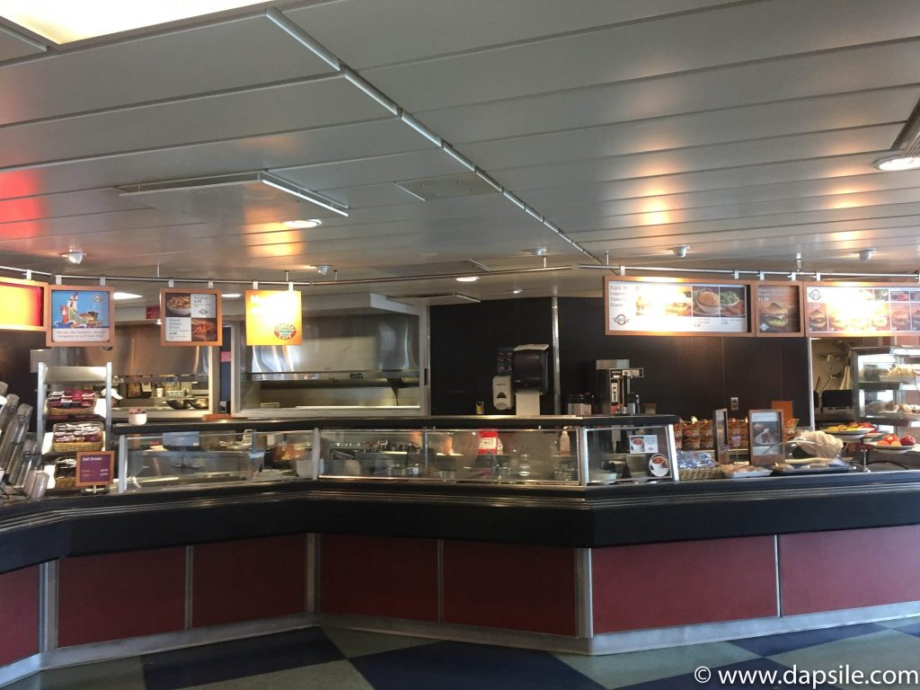 White Spot food area from travelling from Vancouver to Victoria by ferry