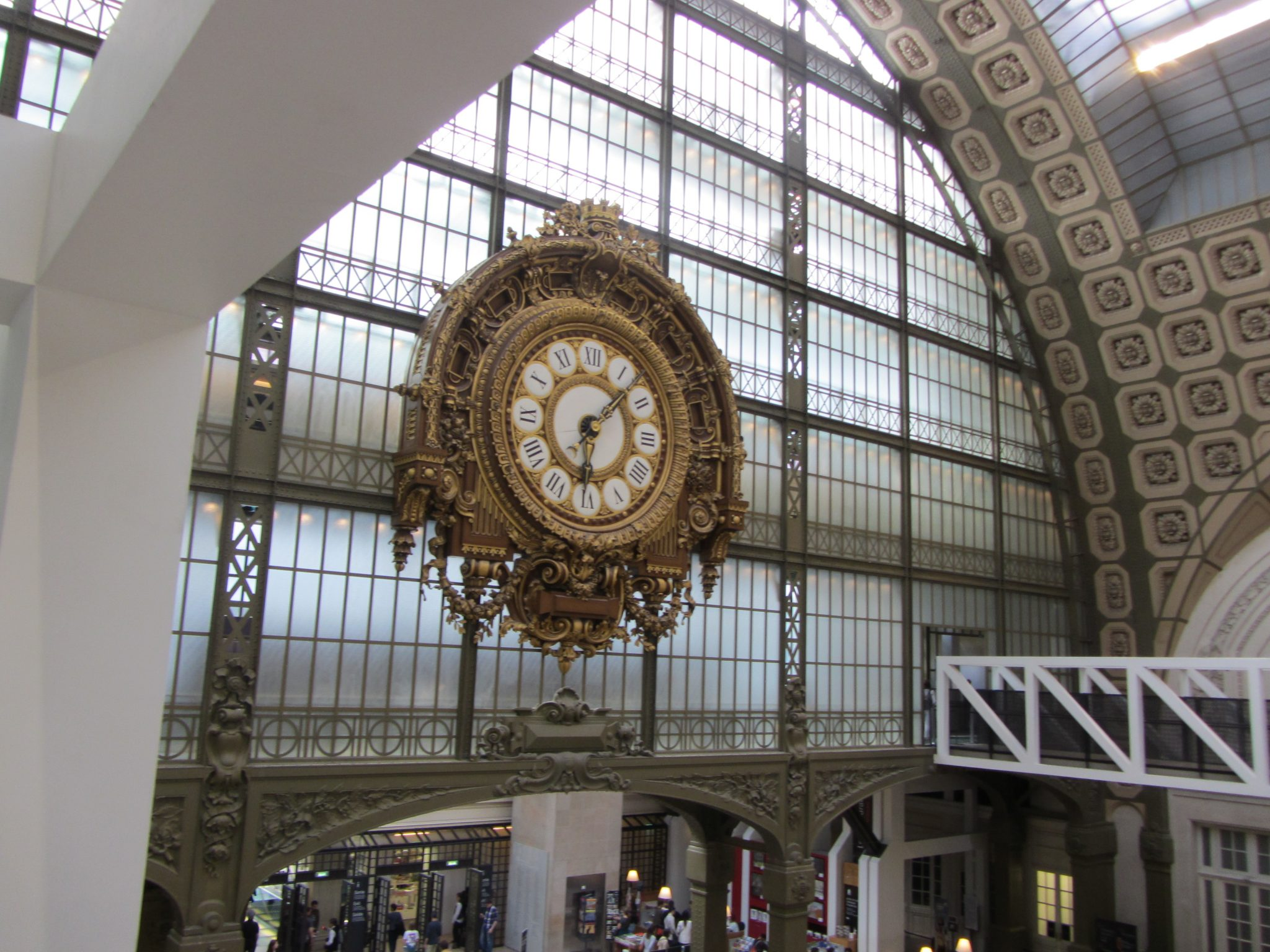 The Wall of Windows and Big Clock Looking Into the Main Hall at the Muse d'Orsay in Paris