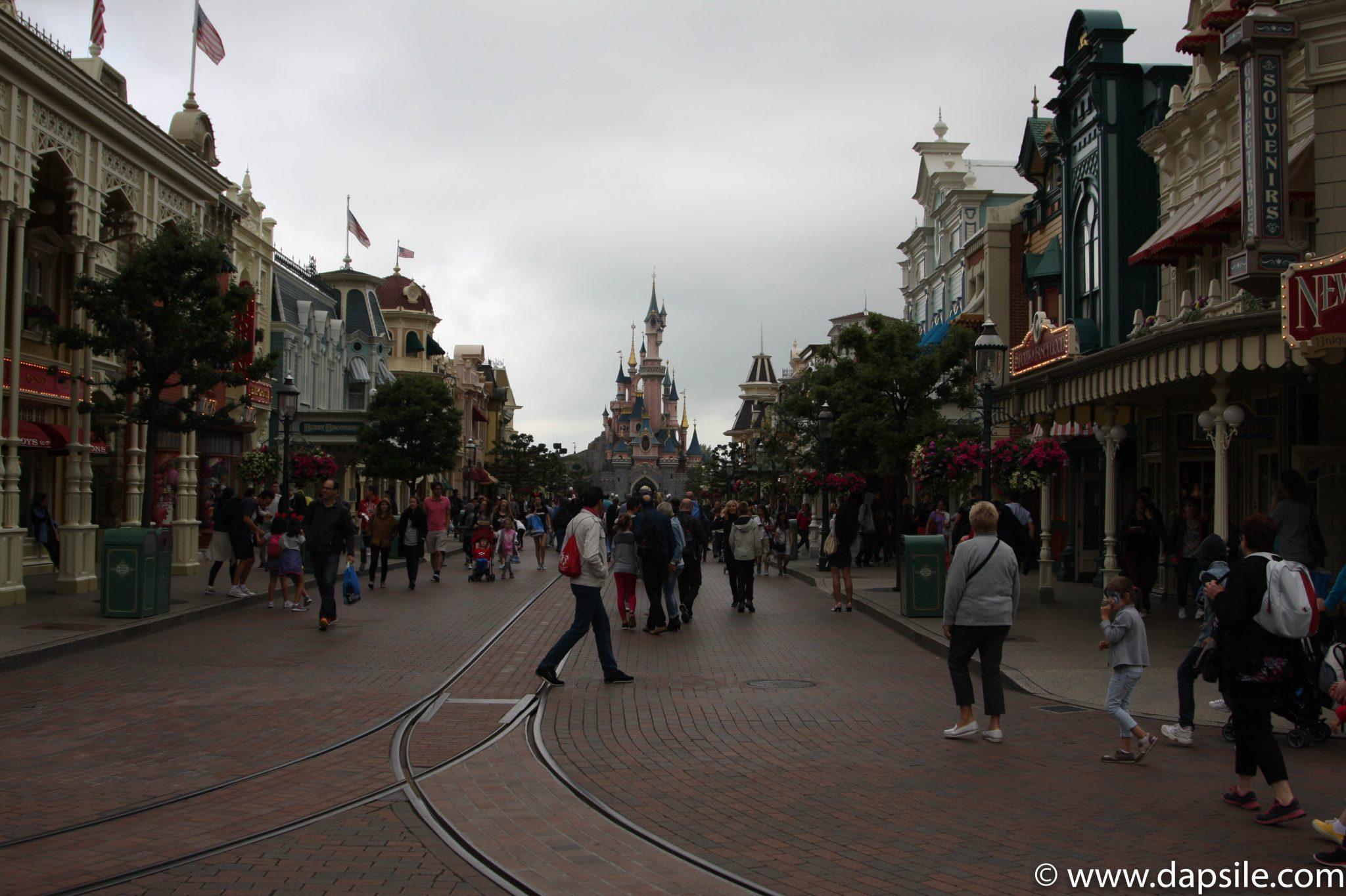 Main Street toward the Castle at Disneyland in Paris Sights