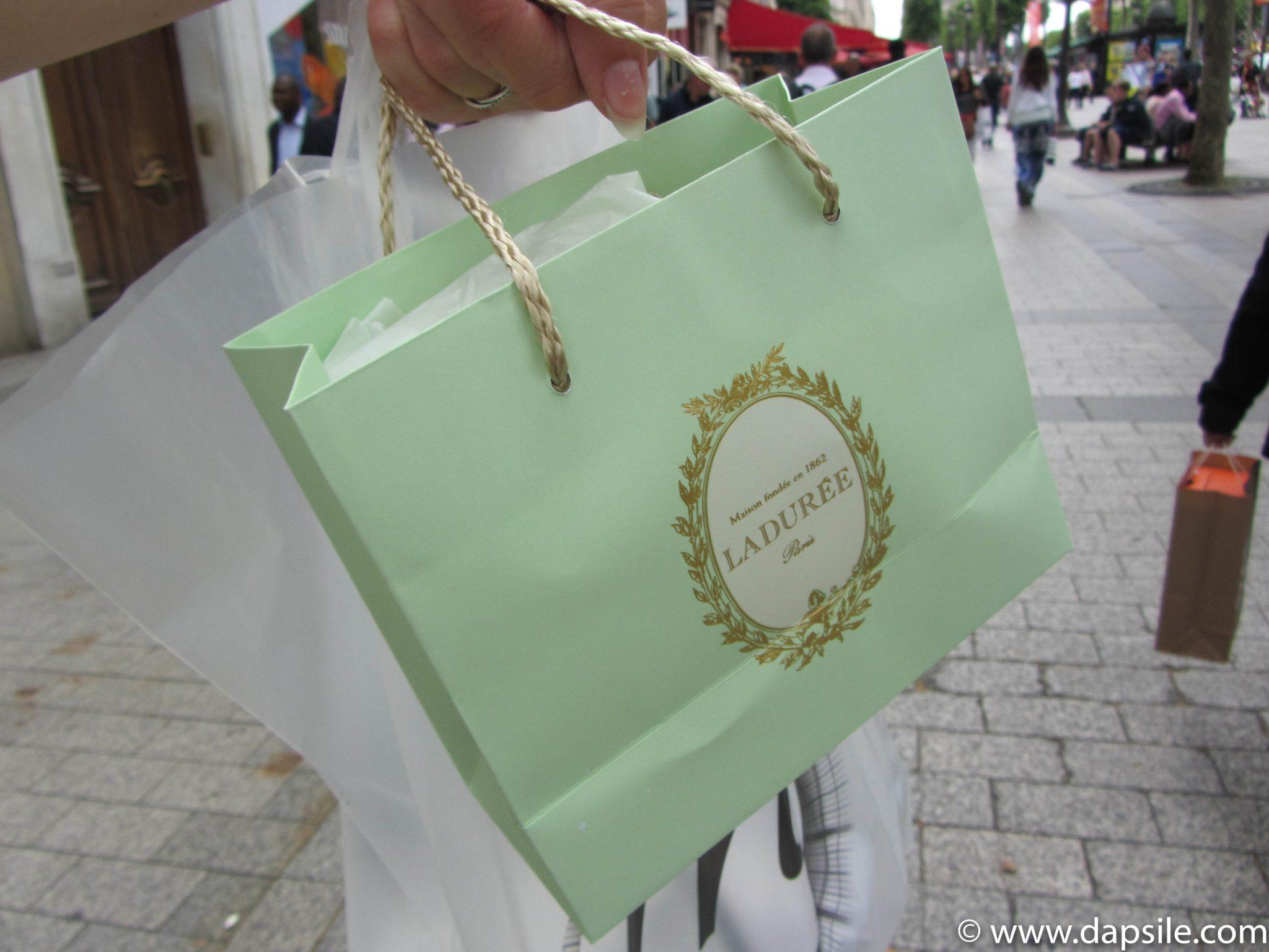 Paris Sights Laduree Shopping Bag
