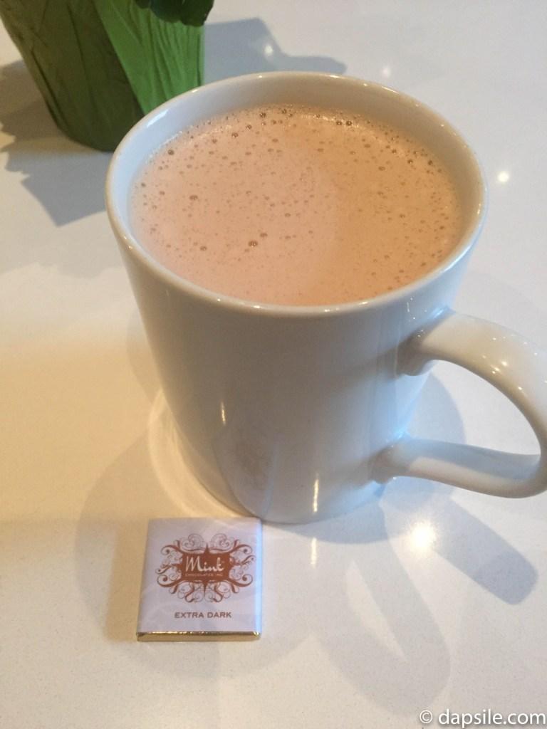 Mink Chocolates Milk Hot Chocolate with Dark Chocolate Square