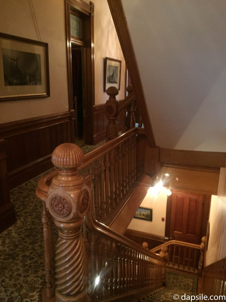 Back Staircase in Craigdarroch Castle Things to do in Victoria