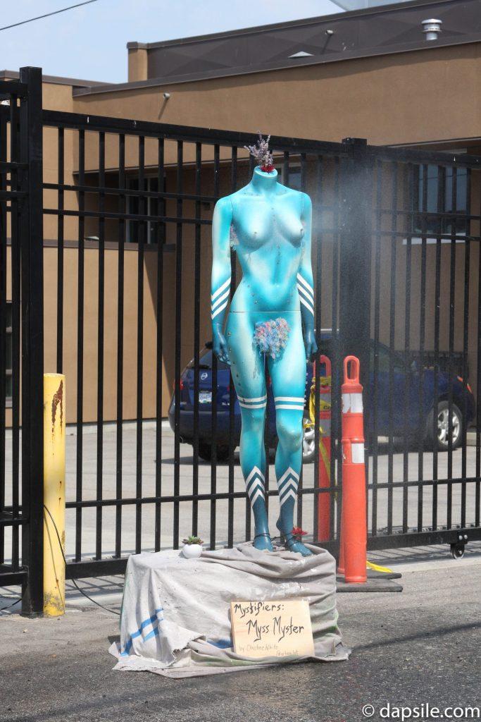Mural Festival Decorative Myss Myster Water Sprayer Summer Street Festivals in the Vancouver Area