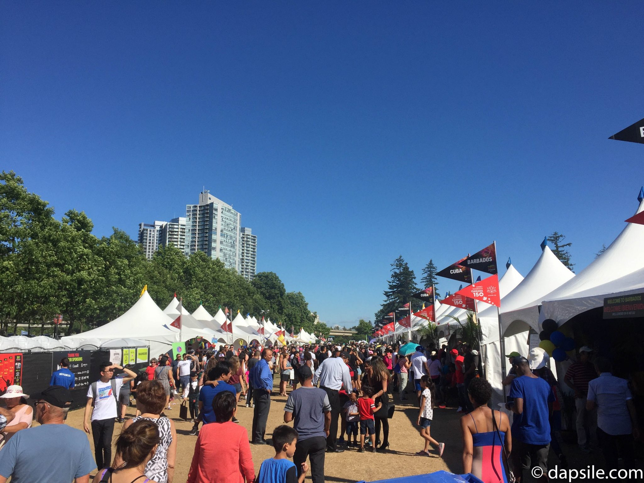 Summer Street Festivals Surrey Fusion Festival Row of Food Pavilions