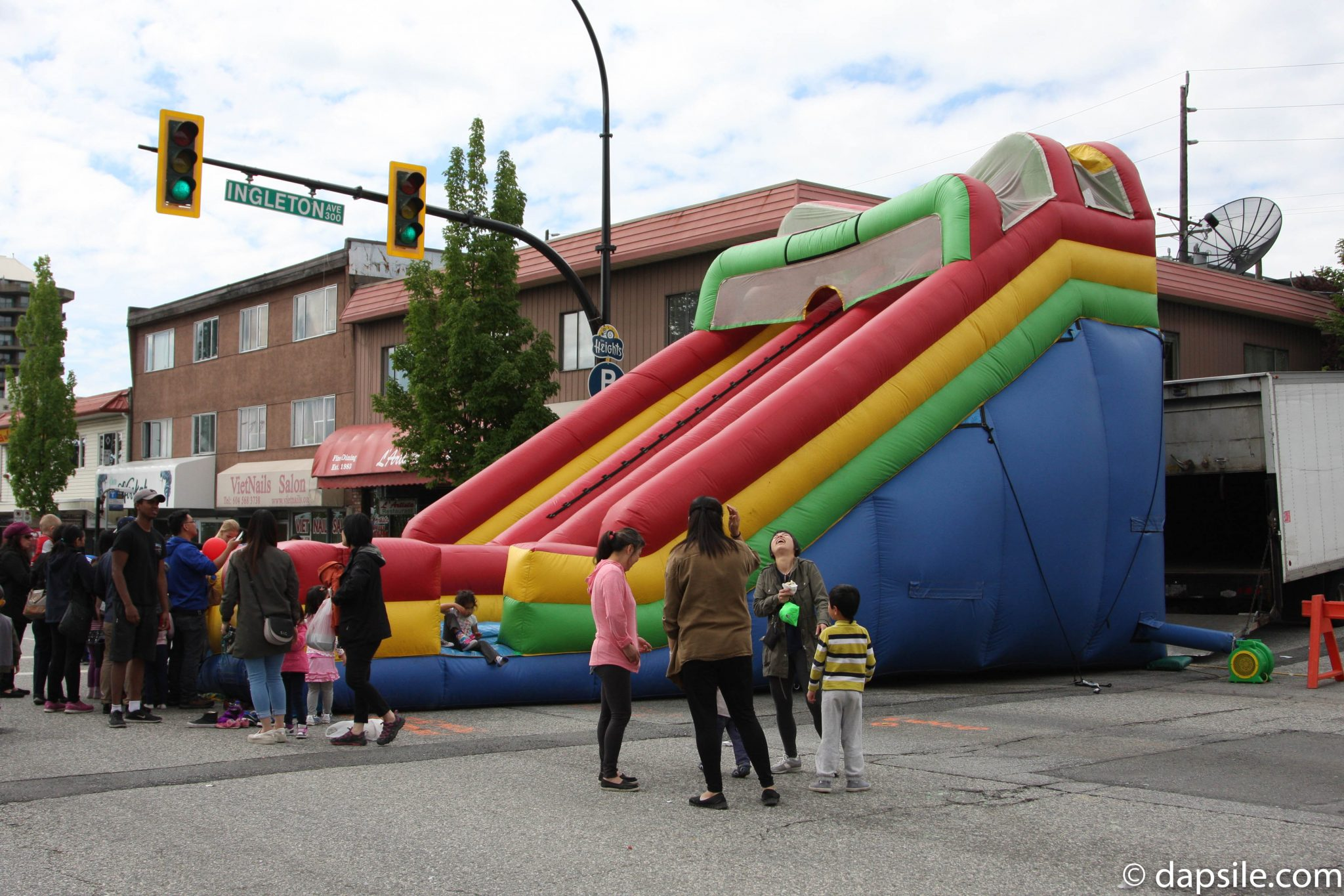 Summer Street Festivals in the Vancouver Area Hats Off Bouncy Slide