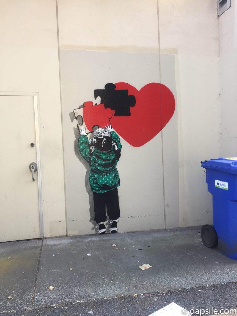 Summer Street Festivals in the Vancouver Area Mural Festival Heart Mural