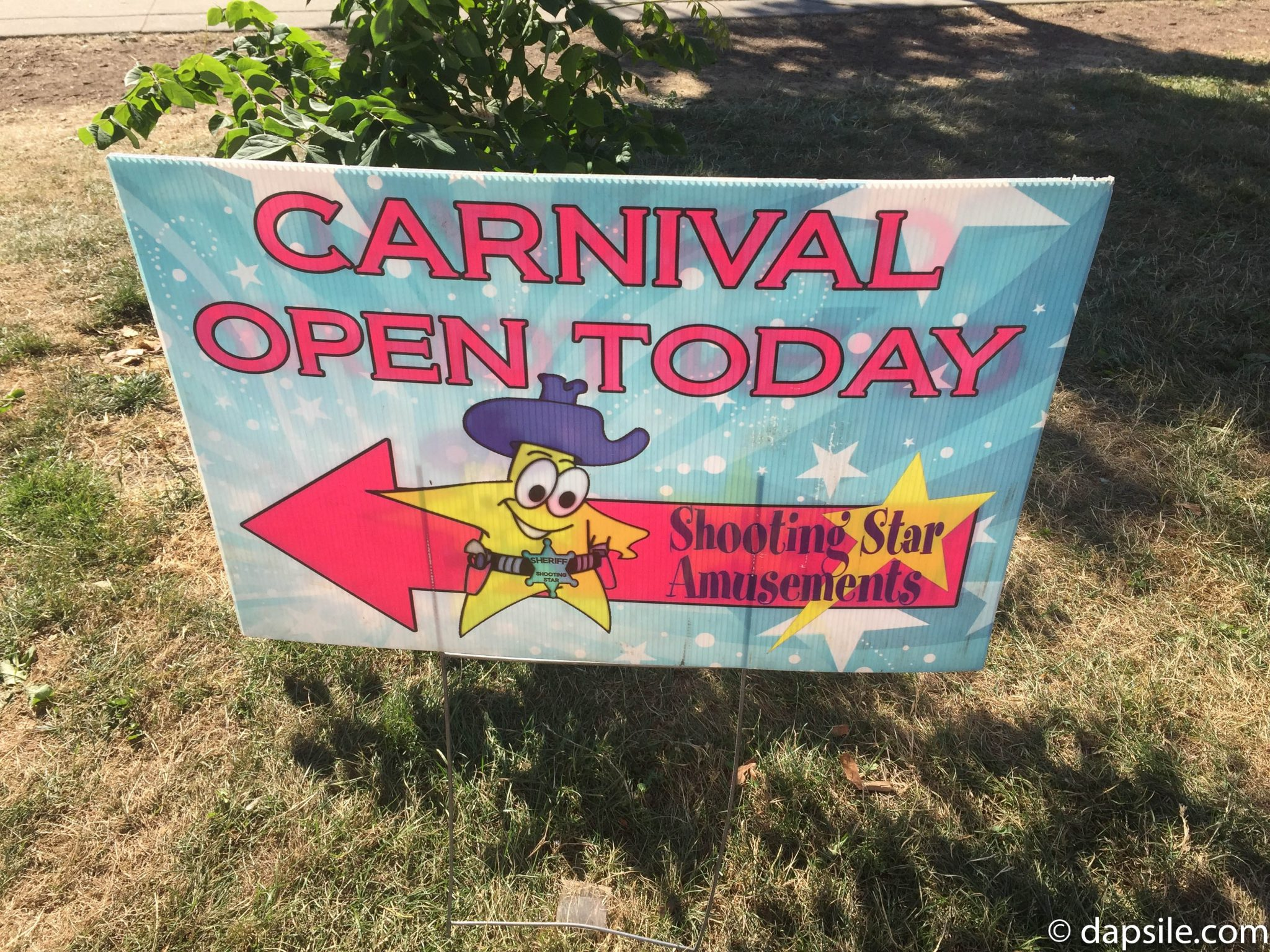 Surrey Fusion Festival Carnival Open Sign