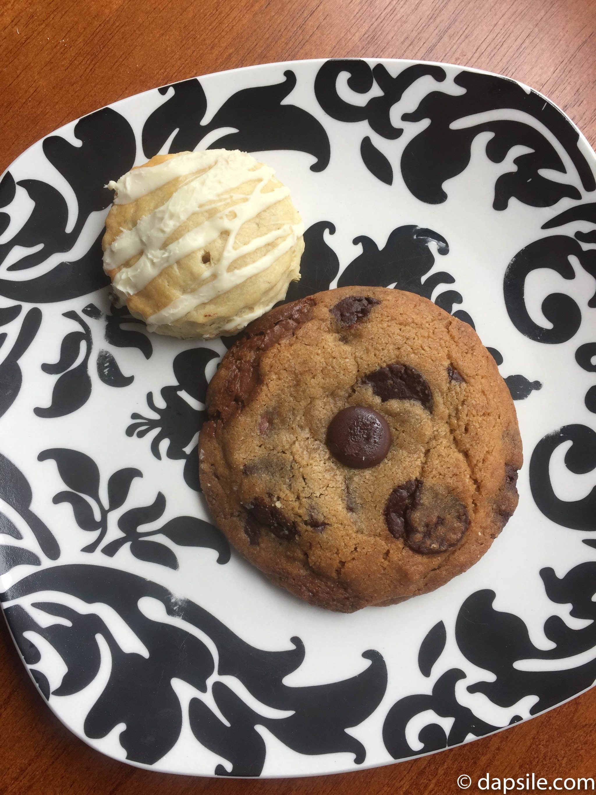 Sweet Somethings chocolate chip cookie and lavender and white chocolate scone