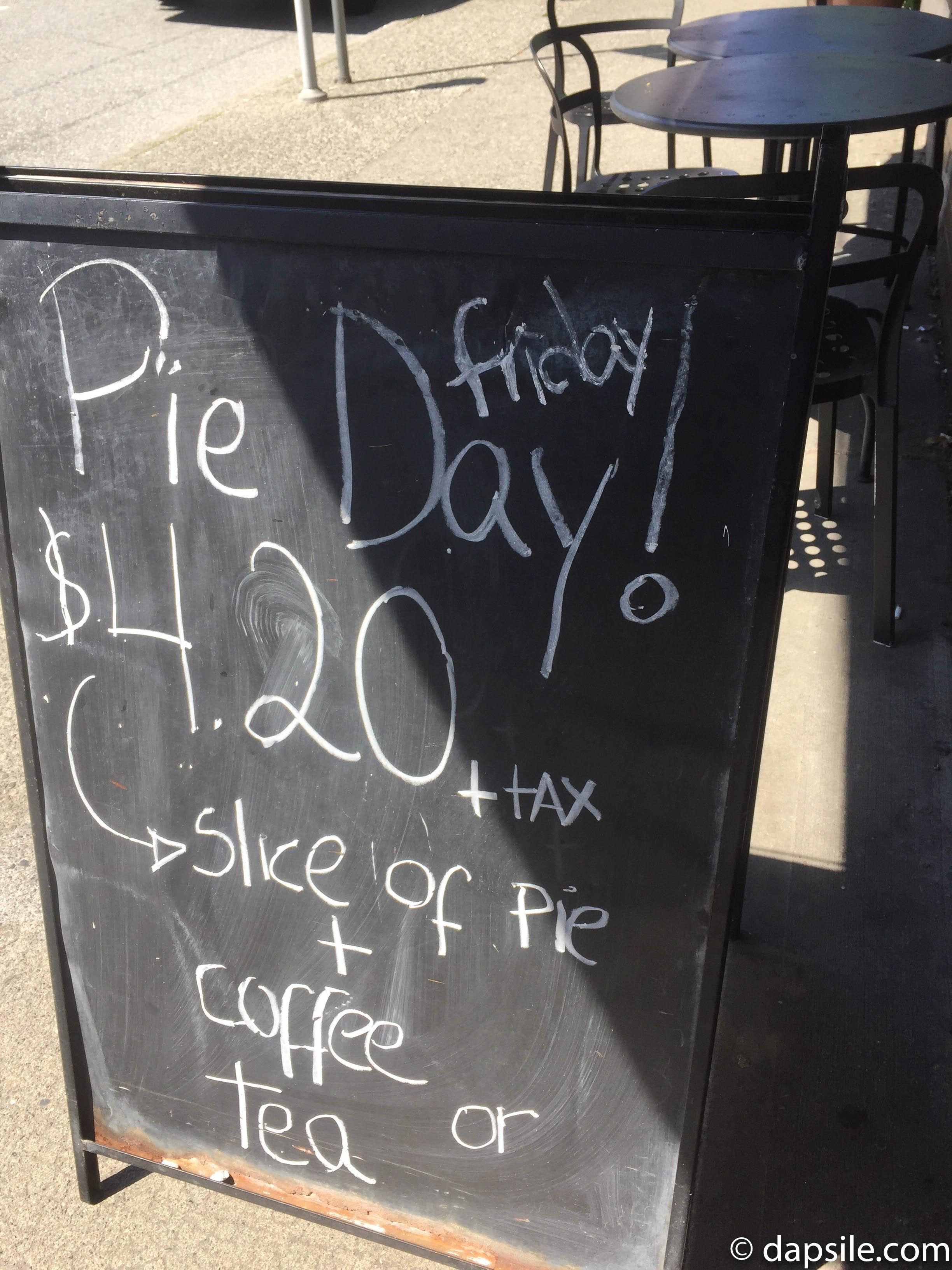 Tartine Pie Day Sign