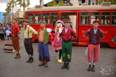 Minnie Mouse Joins Mickey Mouse in Red Car Trolley News Boys-10