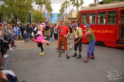 Minnie Mouse Joins Mickey Mouse in Red Car Trolley News Boys-21
