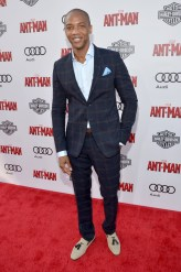 """LOS ANGELES, CA - JUNE 29: Actor J. August Richards attends the world premiere of Marvel's """"Ant-Man"""" at The Dolby Theatre on June 29, 2015 in Los Angeles, California. (Photo by Charley Gallay/Getty Images) *** Local Caption *** J. August Richards"""