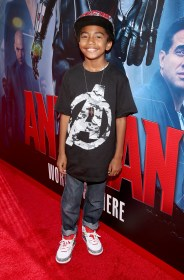 """LOS ANGELES, CA - JUNE 29: Actor Miles Brown attends the world premiere of Marvel's """"Ant-Man"""" at The Dolby Theatre on June 29, 2015 in Los Angeles, California. (Photo by Jesse Grant/Getty Images for Disney) *** Local Caption *** Miles Brown"""