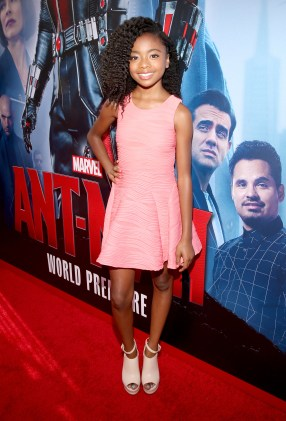 "LOS ANGELES, CA - JUNE 29: Actress Skai Jackson attends the world premiere of Marvel's ""Ant-Man"" at The Dolby Theatre on June 29, 2015 in Los Angeles, California. (Photo by Jesse Grant/Getty Images for Disney) *** Local Caption *** Skai Jackson"