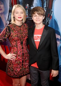 "LOS ANGELES, CA - JUNE 29: Actors Ryan Simpkins (L) and Ty Simpkins attend the world premiere of Marvel's ""Ant-Man"" at The Dolby Theatre on June 29, 2015 in Los Angeles, California. (Photo by Jesse Grant/Getty Images for Disney) *** Local Caption *** Ryan Simpkins;Ty Simpkins"