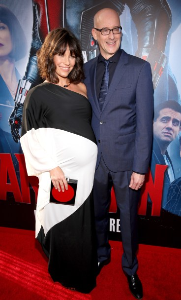 "LOS ANGELES, CA - JUNE 29: Actress Evangeline Lilly (L) and director Peyton Reed attend the world premiere of Marvel's ""Ant-Man"" at The Dolby Theatre on June 29, 2015 in Los Angeles, California. (Photo by Jesse Grant/Getty Images for Disney) *** Local Caption *** Evangeline Lilly;Peyton Reed"