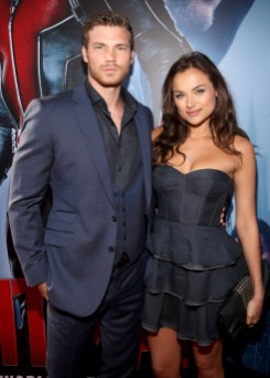 "LOS ANGELES, CA - JUNE 29: Actors Derek Theler (L) and Christina Ochoa attend the world premiere of Marvel's ""Ant-Man"" at The Dolby Theatre on June 29, 2015 in Los Angeles, California. (Photo by Jesse Grant/Getty Images for Disney) *** Local Caption *** Derek Theler;Christina Ochoa"