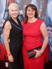 """LOS ANGELES, CA - JUNE 29: Actress Imelda Corcoran (L) and executive producer Victoria Alonso attend the world premiere of Marvel's """"Ant-Man"""" at The Dolby Theatre on June 29, 2015 in Los Angeles, California. (Photo by Jesse Grant/Getty Images for Disney) *** Local Caption *** Imelda Corcoran;Victoria Alonso"""