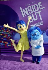 HOLLYWOOD, CA - JUNE 08: Joy (L) and Sadness attend the Los Angeles Premiere and Party for Disney•Pixar's INSIDE OUT at El Capitan Theatre on June 8, 2015 in Hollywood, California. (Photo by Alberto E. Rodriguez/Getty Images for Disney) *** Local Caption *** Joy; Sadness