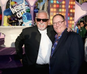 HOLLYWOOD, CA - JUNE 08: Actor John Ratzenberger (L) and executive producer John Lasseter attend the Los Angeles Premiere and Party for Disney•Pixar's INSIDE OUT at El Capitan Theatre on June 8, 2015 in Hollywood, California. (Photo by Jesse Grant/Getty Images for Disney) *** Local Caption *** John Ratzenberger; John Lasseter
