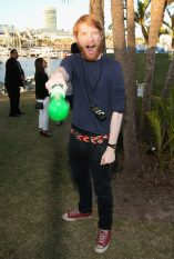 SAN DIEGO, CA - JULY 10: Actor Domhnall Gleeson and more than 6000 fans enjoyed a surprise `Star Wars` Fan Concert performed by the San Diego Symphony, featuring the classic `Star Wars` music of composer John Williams, at the Embarcadero Marina Park South on July 10, 2015 in San Diego, California. (Photo by Jesse Grant/Getty Images for Disney) *** Local Caption *** Domhnall Gleeson