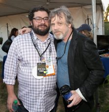SAN DIEGO, CA - JULY 10: Actors Bobby Moynihan (L), Mark Hamill and more than 6000 fans enjoyed a surprise `Star Wars` Fan Concert performed by the San Diego Symphony, featuring the classic `Star Wars` music of composer John Williams, at the Embarcadero Marina Park South on July 10, 2015 in San Diego, California. (Photo by Jesse Grant/Getty Images for Disney) *** Local Caption *** Bobby Moynihan; Mark Hamill