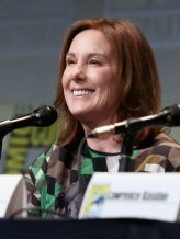 SAN DIEGO, CA - JULY 10: Producer Kathleen Kennedy at the Hall H Panel for `Star Wars: The Force Awakens` during Comic-Con International 2015 at the San Diego Convention Center on July 10, 2015 in San Diego, California. (Photo by Jesse Grant/Getty Images for Disney) *** Local Caption *** Kathleen Kennedy