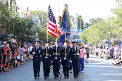 United States Air Force Honor Guard from Washington D.C. in Disney California Adventure (DAPs Magic)